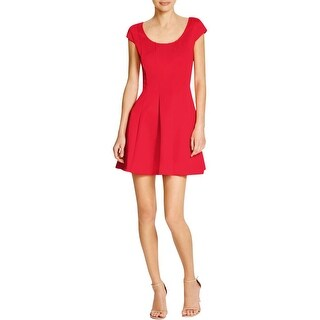 Guess Womens Cocktail Dress Mesh Back Fit & Flare