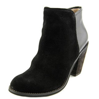Softwalk Frontier Women N/S Round Toe Leather Black Ankle Boot