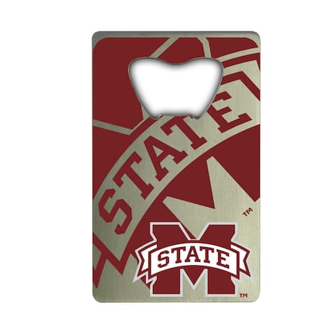 Mississippi State University Metal Credit Card Bottle Opener - 2in. X 3.25in.