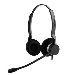 Jabra BIZ 2300 UC Duo Corded Headset w/ USB Connectivity / Noise & Breath Cancelling Microphone & Adapts to Any IT Setup