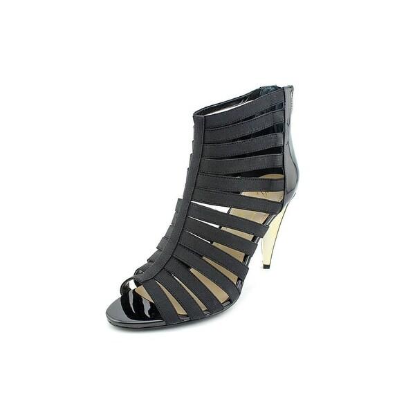 Marc Fisher Edear Women Open Toe Canvas Black Sandals
