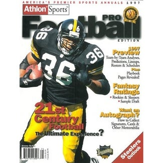 best service a1cc7 33872 Jerome Bettis unsigned Pittsburgh Steelers Athlon Sports 1997 NFL Pro  Football Preview Magazine