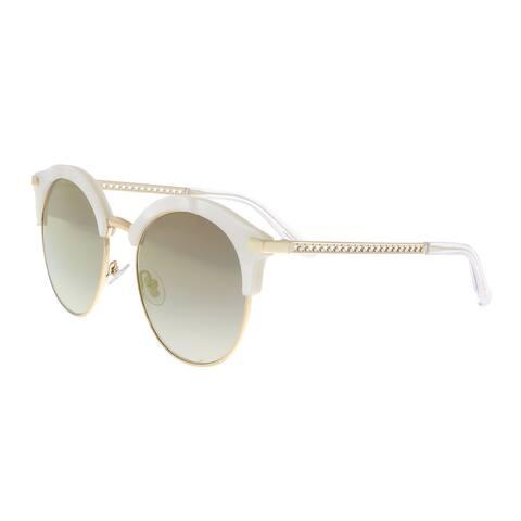 Jimmy Choo Hally/S SCK WHITE White Cat eye Sunglasses - 55-19-140