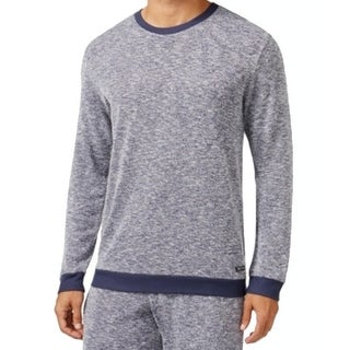 Kenneth Cole Reaction NEW Blue Mens Size Small S Marled Knit Nightshirt