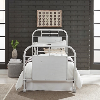 Link to Carbon Loft Cauthen Antique White Twin Metal Bed Similar Items in Kids' & Toddler Furniture