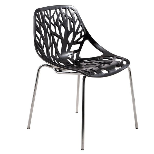 LeisureMod Asbury Modern Open Back Chrome Dining Side Chair. Opens flyout.