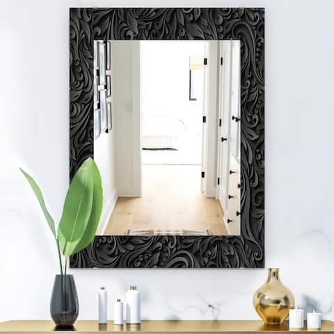 Designart 'Obsidian Impressions 10' Modern Mirror - Wall Mirror