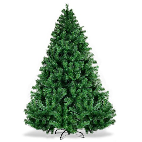 Gymax 6' Christmas Tree 1000 Tips Premium Hinged Artificial PVC