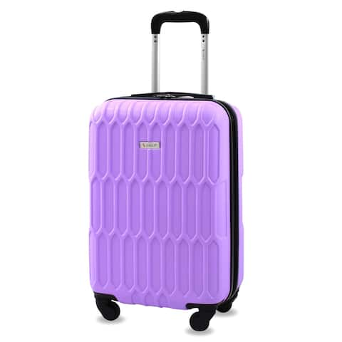 AMKA Honeycomb 22 in. Carry-On Expandable Spinner Suitcase