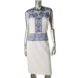 Patra Womens Sleeveless Knee-Length Wear to Work Dress - 8