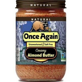 Once Again - No Salt Smooth Almond Butter ( 12 - 16 oz jars)