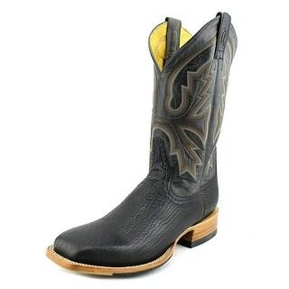 Rod Patrick Shark Men B Round Toe Leather Black Western Boot