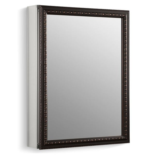 "Kohler K-2967 20"" x 26"" Single Door Reversible Hinge Framed Mirrored Medicine Cabinet with Oil Rubbed Bronze Finish - N/A"