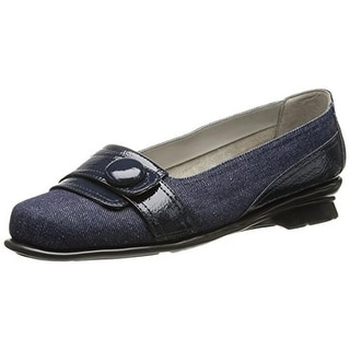 Aerosoles Womens Raspberry Patent Embellished Loafers