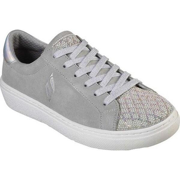 Shop Skechers Women s Goldie Shiny Quilter Sneaker Light Gray - On ... 5779d2104e23