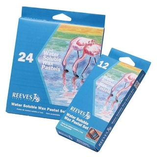 Reeves - Water Soluble Wax Pastel Set - 24-Color Set
