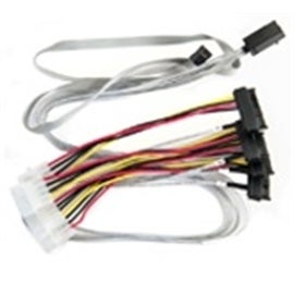 Adaptec Cable 2280100-R 0.8M Internal Mini Serial SCSIx4 SFF-8643 to 4x1 Serial SCSI Retail