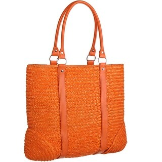 Mad Style Orange Milan Straw Tote