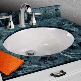 """Miseno MNO1714OU 17-3/8"""" Undermount Bathroom Sink with Overflow (Mounting Clips Included) - White"""