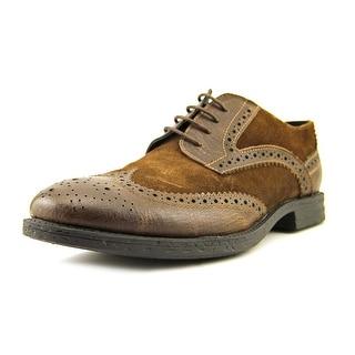 Robert Wayne Kaden Men Wingtip Toe Leather Brown Oxford