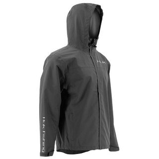 Huk Men's Packable Charcoal Grey Small Rain Jacket
