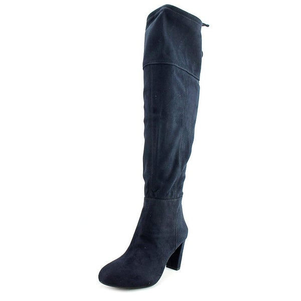 INC International Concepts Hadli Wide Calf Round Toe Synthetic Knee High Boot