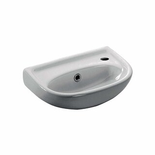 "WS Bath Collections Basic 4000.01L Basic 15-1/2"" Wall Mounted Bathroom Sink"