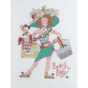Bucilla Alma Lynne Counted Cross Stitch Kit, Beach Baby