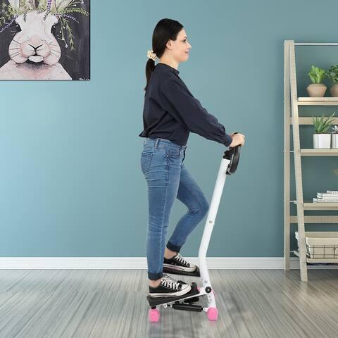Sunny Health & Fitness Twist Stepper Step Machine w/Handle Bar