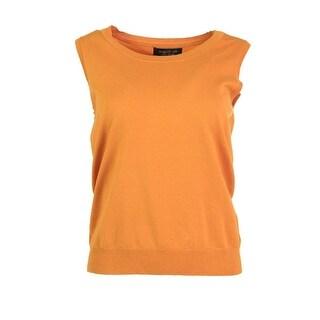 August Silk Womens Silk Blend Sleeveless Sweater Vest - S