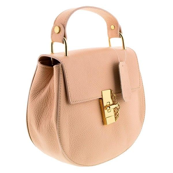 HS1151 RA CIRCE Rosa Leather Top Handle/Shoulder Bag - Pink - 8.5-8.5-3