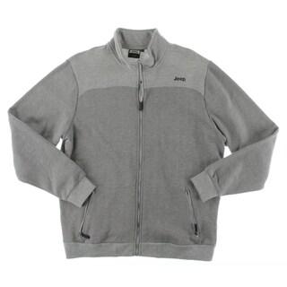 Jeep Mens Sweatshirt Herringbone Fleece - XL