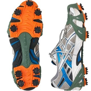 STABIL Turf Lightweight Removable Job Safety Traction Cleats - Green/Orange