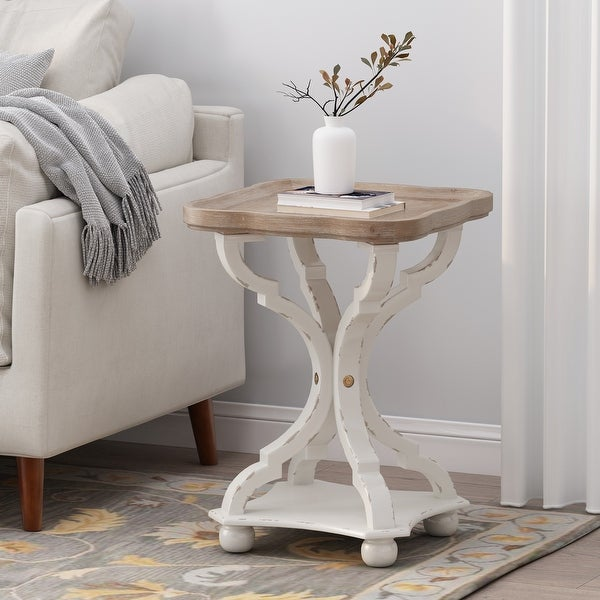 Bevier French Country Accent Table with Square Top by Christopher Knight Home. Opens flyout.