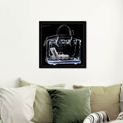 Oliver Gal 'Couture X Ray' Fashion and Glam Framed Wall Art Prints Handbags - Black, White