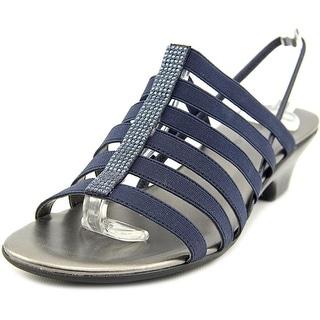 Karen Scott Estevee Open-Toe Canvas Slingback Sandal