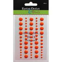 Eyelet Outlet Adhesive-Back Enamel Dot 60/Pkg-Orange