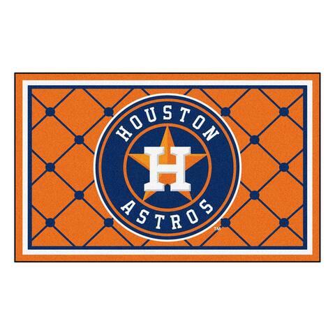 MLB - Houston Astros 4ft. x 6ft. Plush Area Rug - 4' x 6'/Surplus - 4' x 6'/Surplus
