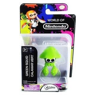 "World of Nintendo 2.5"" Mini Figure Green Squid"
