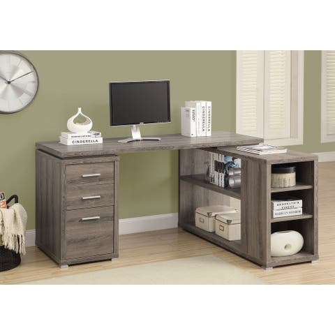 Dark Taupe Left Or Right Facing Corner Computer Desk