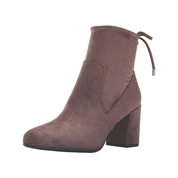 Franco Sarto Womens Pisces Ankle Boots Faux Suede Heels