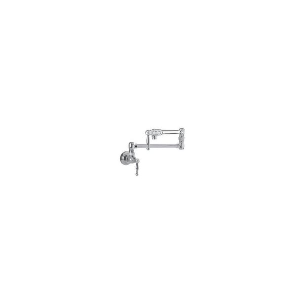 Newport Brass 9482 Double Handle Wall Mounted Pot Filler Faucet with Metal Lever Handles from the 940 Series