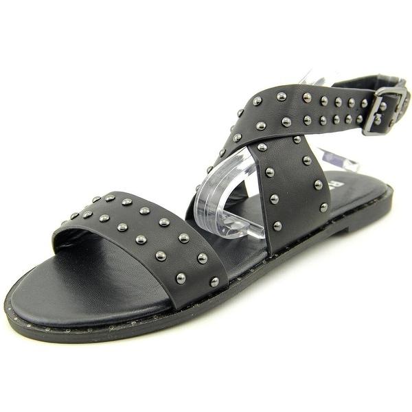 Report Linda Women Open-Toe Synthetic Black Slingback Sandal
