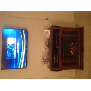 Harper Blvd Copeland Oak Media Console/ Stand Electric Fireplace