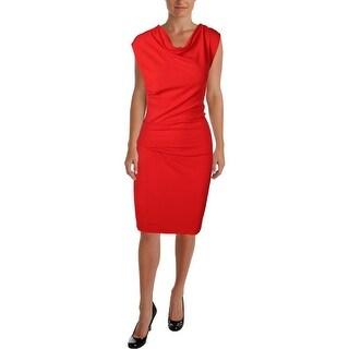 Helmut Lang Womens Wool Short Sleeves Wear to Work Dress - S