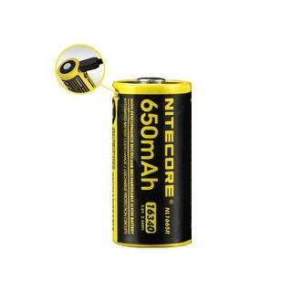 NITECORE NL1665R 650mAh 16340 USB Rechargeable Li-ion Battery