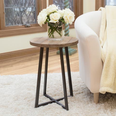 FirsTime & Co Miles Rustic Farmhouse Wood Side Table - 16 x 16 x 22 in