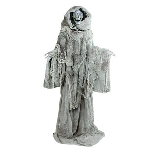 """65"""" Touch Activated Lighted Standing Master of Death Animated Halloween Decoration with Sound"""