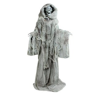 """65"""" Touch Activated Lighted Standing Master of Death Animated Halloween Decoration with Sound - Brown"""