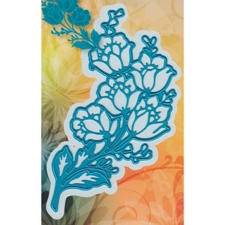 "Joy! Crafts Cut & Emboss Die-Flower Corner, 4.75""X2.25"""